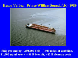 「Prince William Sound in Alaska oil flowing」の画像検索結果