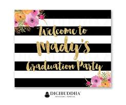 Graduation Party Welcome Sign Party Signs Grad Party Signage Etsy