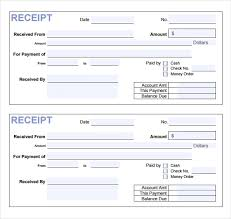 Payment Receipt Format In Word Money Sample Template Free Cheque
