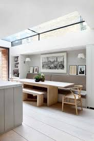 modern kitchen table with bench. dining space with banquette seating. kitchen table benchsmall modern bench