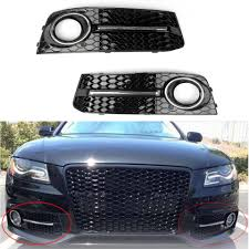 Audi A4 Front Lights Areyourshop Car Front Bumper Fog Light Comb Grilles Grill For Audi A4 B8 2009 2010 2011 2012 Abs Grille Car Auto Accessories