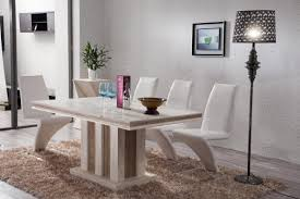 appealing white marble top dining table set 9 round restaurant tops tables