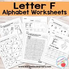 Alphabet Worksheets Letter F