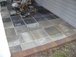 brilliant ideas outdoor patio tiles over concrete exquisite slate tile