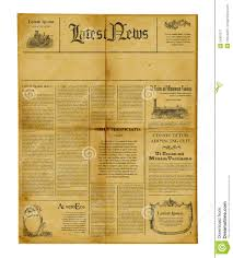 Custom Newspaper Template Antique Newspaper Template Stock Image Image Of Information 24901371