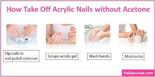 how to take off acrylic nails without