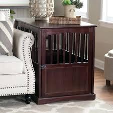 wood dog kennel furniture large wood dog crate end table indoor kennel cage pet bed furniture
