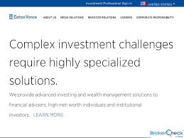 Eaton Vance Management Boston Management And Research Boston Ma