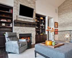 Amazing of Stack Stone Fireplace Houzz Stacked Stone Fireplace Design Ideas  Remodel Pictures