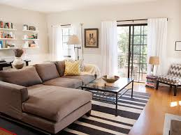 room ideas shaped sofa modern  elegant vibrant red sofas living room and dining room decorating idea