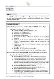 Secretary Resume Template Magnificent Company Secretary Resume Templates Secretary Resume Examples