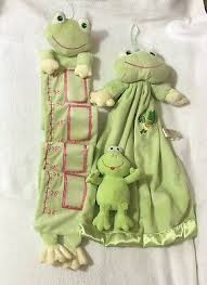 Frog Plush Growth Chart Wall Hanging Toddler Up To 56 Child