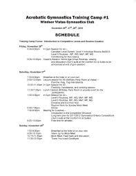 oakville gymnastics club acrobatic gymnastics team  training camp schedule