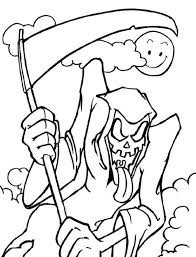 Small Picture Scary Halloween Coloring Pages Grim Reaper Hallowen Coloring