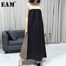 <b>New</b> Women Summer <b>Pleated Dress</b> Casual Sleeveless Promotion ...