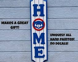chicago cubs home wood decor sign chicago cubs gifts chicago cubs fan