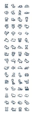 Vectorial Animals минималистические рисунки тату минимализм
