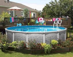 above ground pools decorating ideas. Unique Above Patio Design Size And Shape Outdoor Landscaping Ideas With Decor Above  Ground Swimming Pools Doughboy Intended Decorating