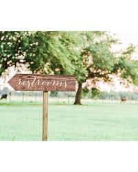 restroom directional sign. Restroom Sign Wedding, Wedding Sign, Bathroom Wooden Arrow Directional G