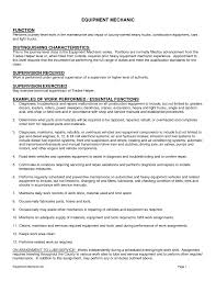 Heavy Equipment Mechanic Resume. heavy ...