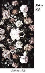 Vliesbehang Donkere Bloemen Nieuw 260x520cm Tapetshow Homedeconl