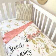 Dream Catcher Crib Bedding Sweet Dreams In Gold Cot Quilt Nursery Decor Nursery And Cot Quilt 17
