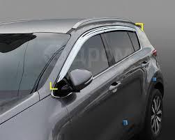 KIA Sportage ветровики (<b>дефлекторы окон</b>) <b>хром</b> - Автозапчасти ...