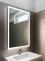 square or round edge lit mirror at master bath vanity