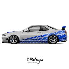 nissan skyline fast and furious drawing. Nissan Skyline GTR ZTune In Fast And Furious Drawing