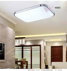 kitchen led light fixtures rectangular shape white colored glass bottom cover ceiling tytpe stainless side white