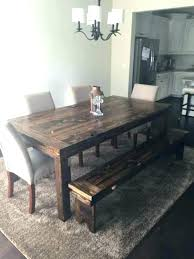 rustic dining table with benches dining table bench plans round dining table bench rustic farmhouse table