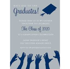Senior Party Invitations Hats Off To The Graduation Navy Silver Graduation Invitations By Noteworthy Collections Invitation Box