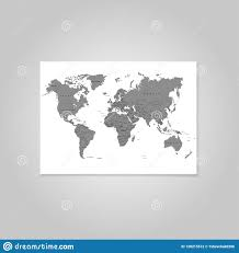 The Earth World Map On White Background Vector Illustration Stock