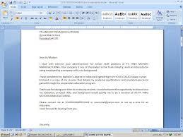 Job Resume Letter For Job