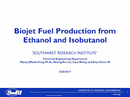 Swri Org Chart Biojet Fuel Production From Ethanol And Isobutanol Aiche