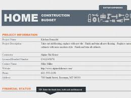 ms excel home construction budget template