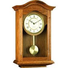 clocks traditional oak pendulum wall clock chimes pendulam modern uk