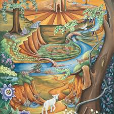 """""""Make Way"""" by Tennessee Storypainting artist Wendy L. Wolf / Prophetics  Gallery"""