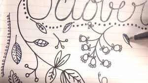 sd doodling fall leaves october page for bullet journal the green notebook