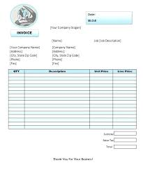 Free Printable Work Order Invoice Template Sample More From Business