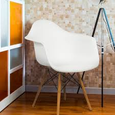 Mid century modern chair styles Danish Best Choice Products Eames Style Modern Midcentury Armchair W Molded Plastic Shell White Walmartcom Brigatz4curvascom Best Choice Products Eames Style Modern Midcentury Armchair