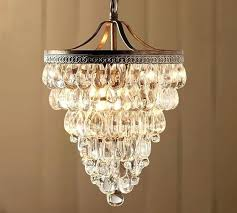 crystal drop small round chandelier crystal drop small round chandelier pottery barn clarissa crystal drop small