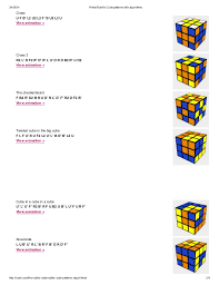 Rubik's Patterns Awesome Pretty Rubik's Cube Patterns With Algorithms