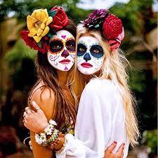 mexikanische totenmaske schminken step