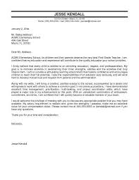 Sample Teacher Cover Letter No Experience Letters Font