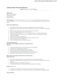 Construction Foreman Resume Examples – Amere