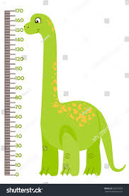 Kids Height Chart Vector Illustration Kids Height Chart Cartoon Stock Vector