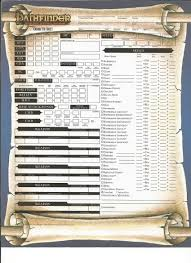 character sheet pathfinder character sheets for pathfinder album on imgur
