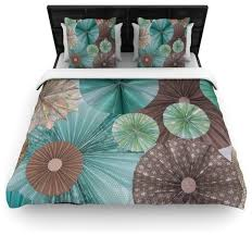heidi jennings atlantis teal brown duvet cover covers