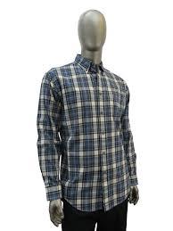 Haggar Iwl039 Plaid Flannel Shirt Blue